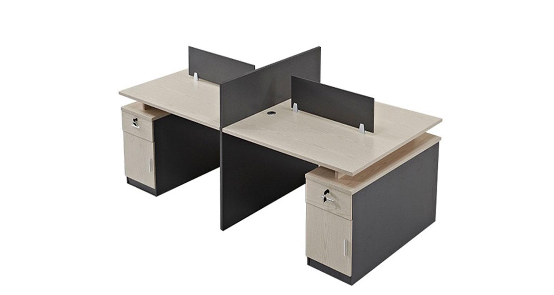 十字形工位-隔断式办公桌-品源办公桌