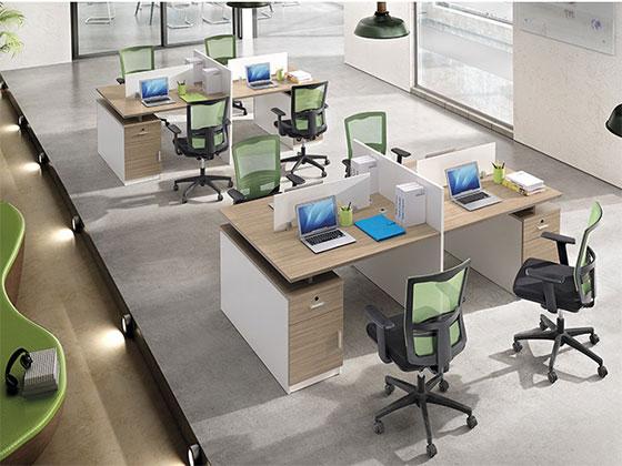 十字形工位-隔断办公桌-品源办公桌