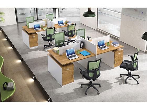 十字办公卡位-隔断式办公桌-品源办公桌