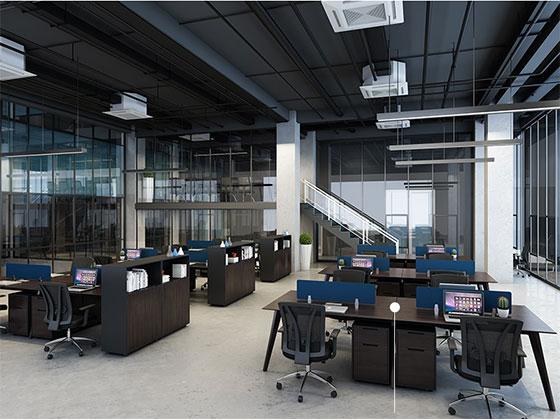 职员办公桌定制-屏风式办公桌-品源办公桌