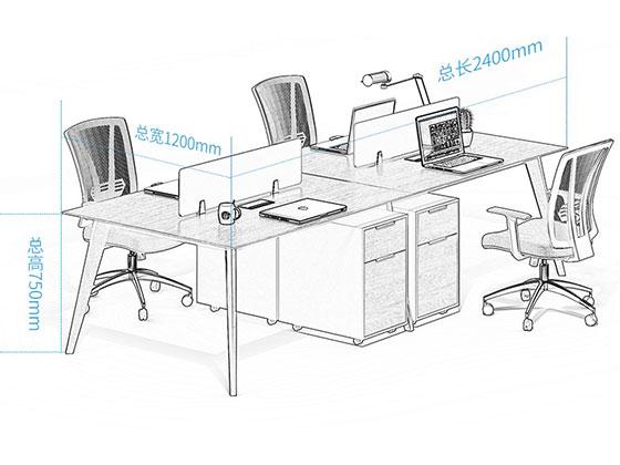 职员单人办公桌尺寸-屏风办公桌-品源办公桌