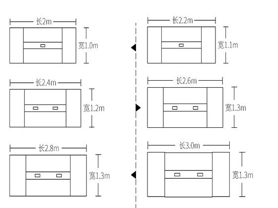 会议室桌子尺寸组合-会议桌-品源会议桌