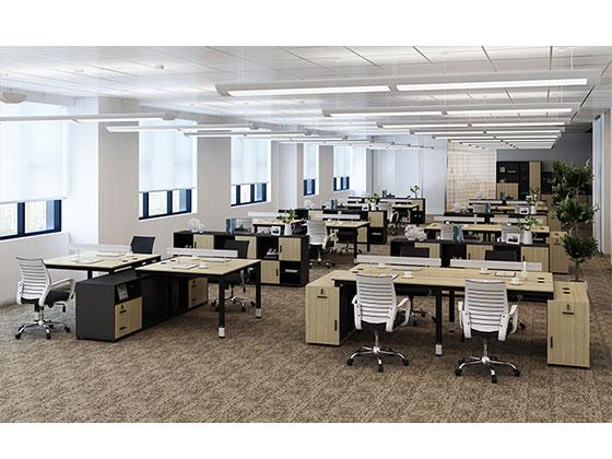 员工办公卡位尺寸-隔断式办公桌-品源办公桌