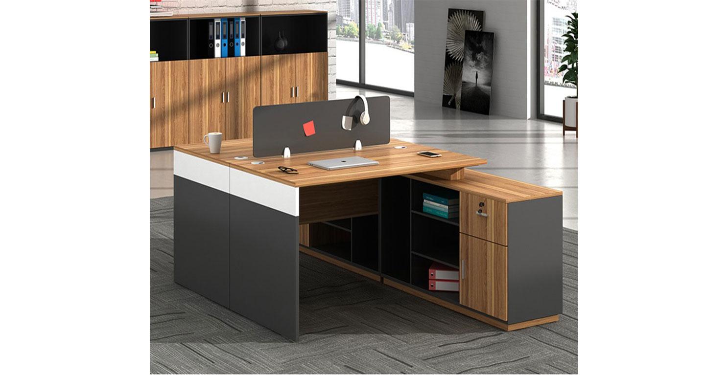 两人位对桌-屏风式办公桌-品源办公桌