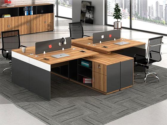 两人位屏风办公桌-屏风式办公桌-品源办公桌