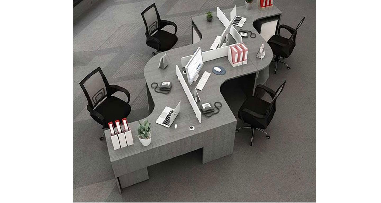 蜂巢办公桌-屏风办公桌-品源办公桌