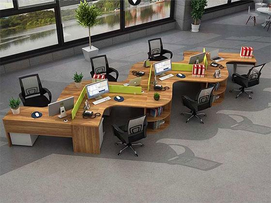 公司蜂巢办公桌-屏风办公桌-品源办公桌