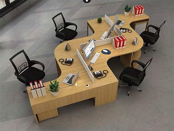蜂巢办公桌样式-屏风式办公桌-品源办公桌