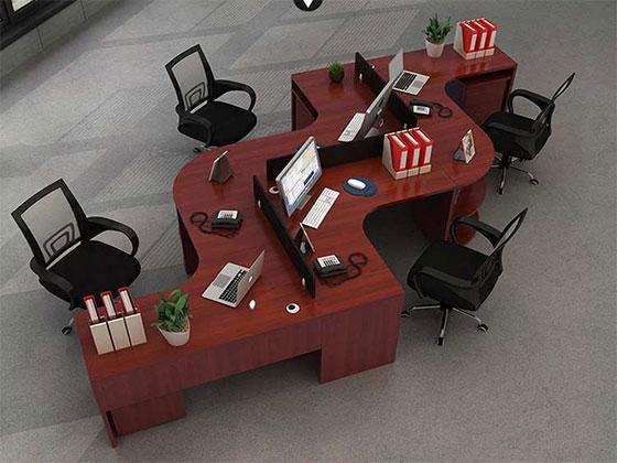 蜂巢办公桌-隔断办公桌-品源办公桌