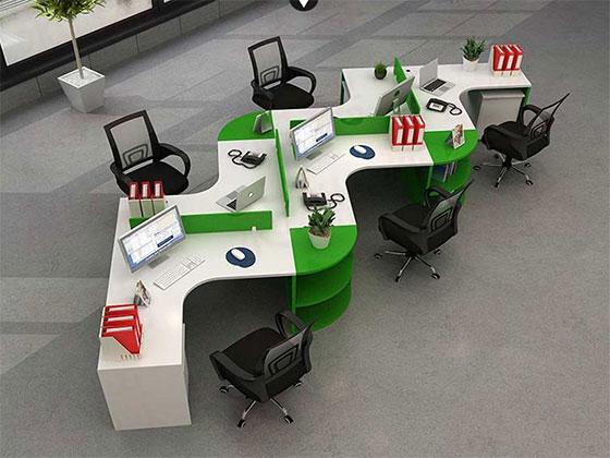 公司蜂巢办公桌-隔断式办公桌-品源办公桌