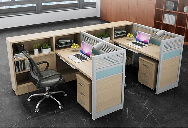 f型卡位办公桌-四人位f型卡位办公桌