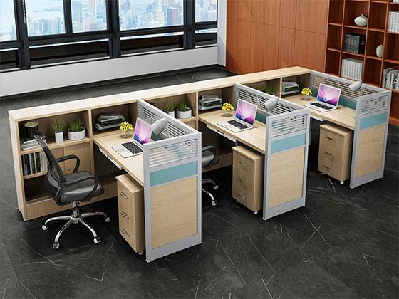 f型卡位办公桌-屏风式办公桌-品源办公桌