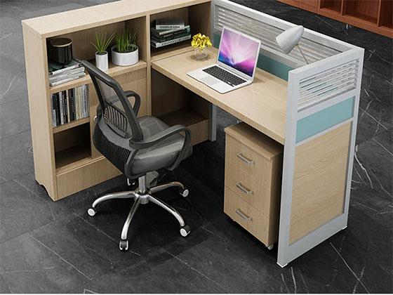 四人位f型卡位办公桌-隔断办公桌-品源办公桌