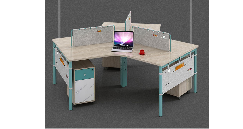 三人位屏风桌尺寸)-屏风式办公桌-品源办公桌