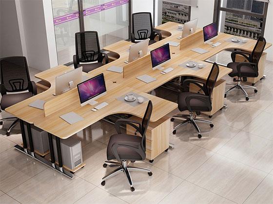 单人隔断办公桌-屏风式办公桌-品源办公桌