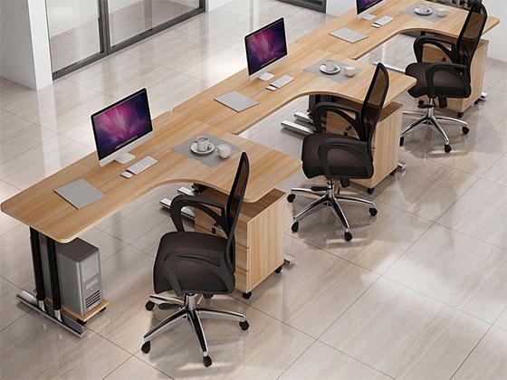 单人位屏风工位-屏风办公桌-品源办公桌