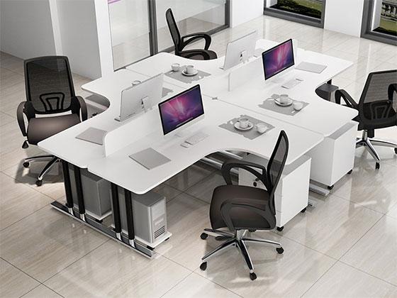 单人位屏风办公桌-隔断式办公桌-品源办公桌