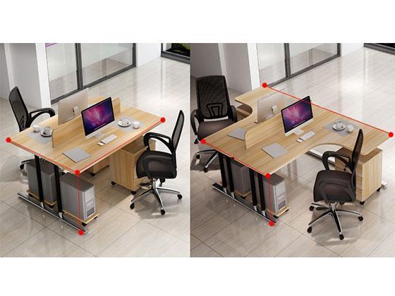 转单人位屏风办公桌尺寸-屏风办公桌-品源办公桌