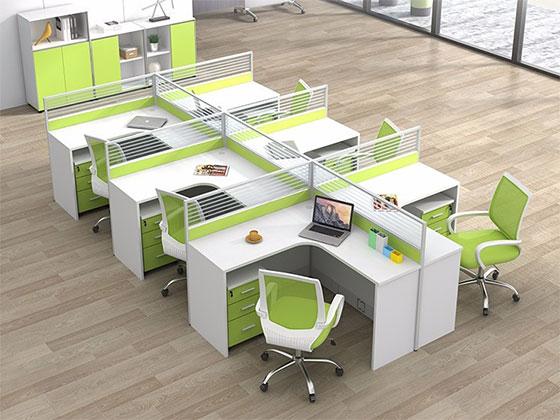 单人位隔音板屏风工位-隔断式办公桌-品源办公桌