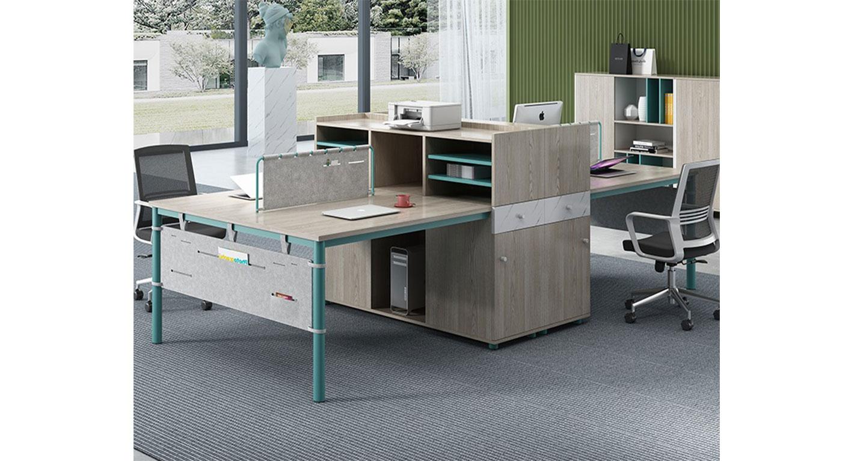 4人位办公桌-屏风办公桌-品源办公桌
