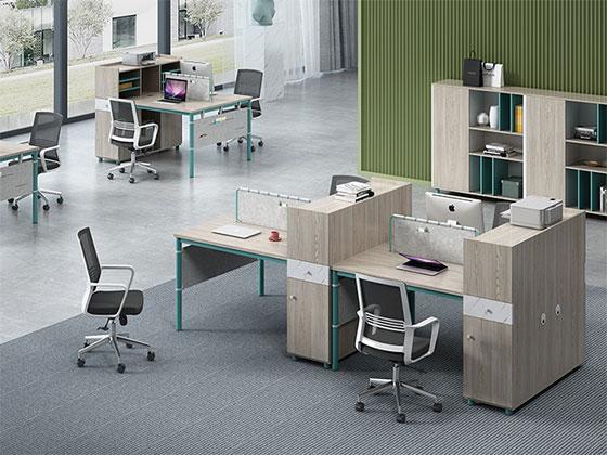4人屏风工作位-屏风办公桌-品源办公桌