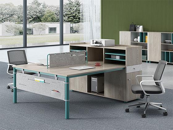 4人组合办公桌-屏风式办公桌-品源办公桌