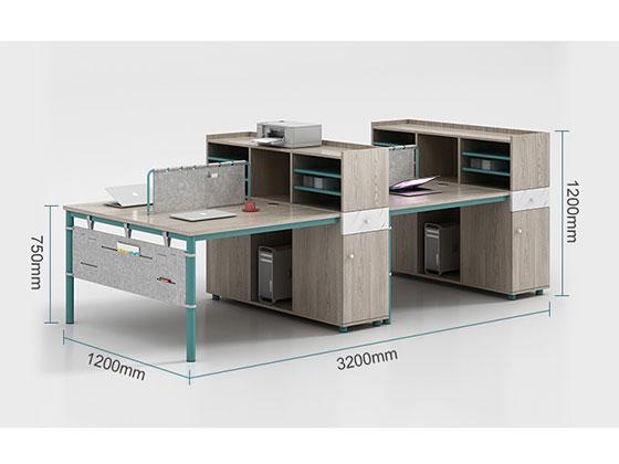 4人组合办公桌尺寸-屏风办公桌-品源办公桌