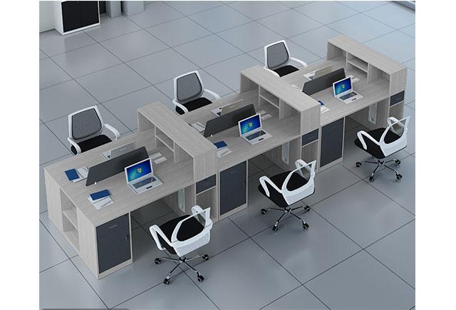 6位连体办公桌_6人位办公桌_6人屏风卡位办公桌