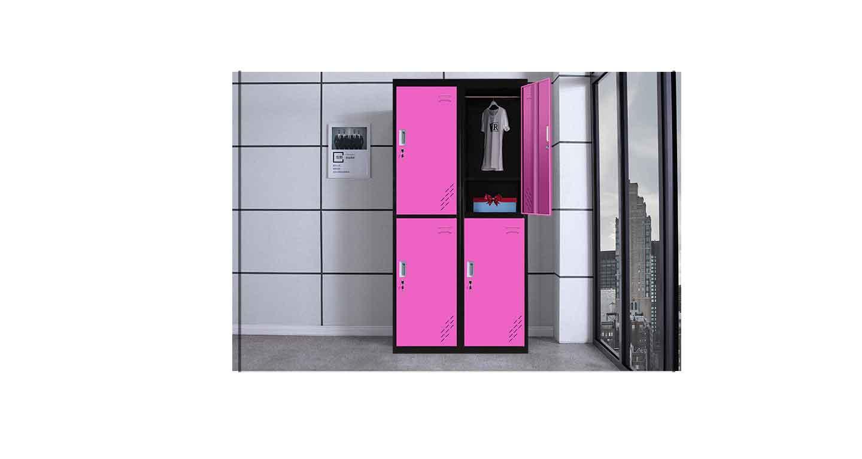 彩色铁皮更衣柜-办公室文件柜-品源文件柜