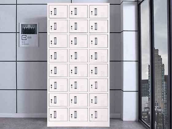 彩色员工更衣柜-办公室文件柜-品源文件柜