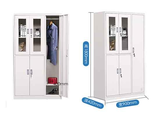 彩色铁皮更衣柜尺寸-办公室文件柜-品源文件柜