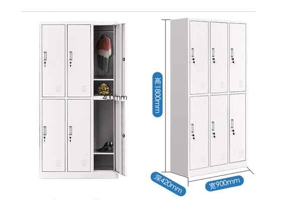 六门宿舍员工储物柜尺寸-办公室文件柜-品源文件柜