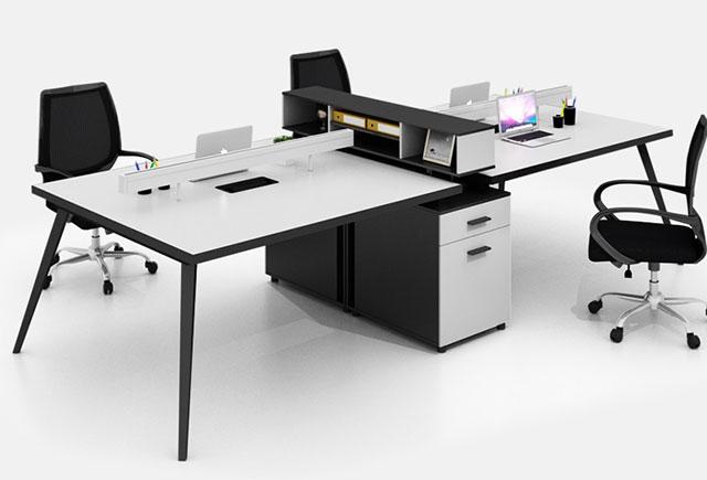 铝塑板屏风办公桌-4人位铝塑板屏