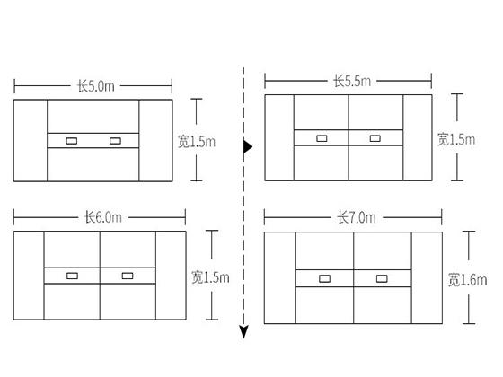 10人会议桌标准尺寸尺寸-会议桌-品源会议桌