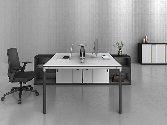 办公桌桌上屏风-屏风式办公桌-品源办公桌