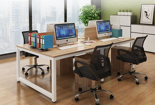 办公室四人办公桌尺寸_办公室4人