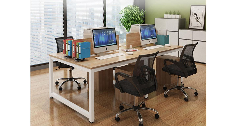 办公室四人办公桌尺寸-屏风办公桌-品源办公桌