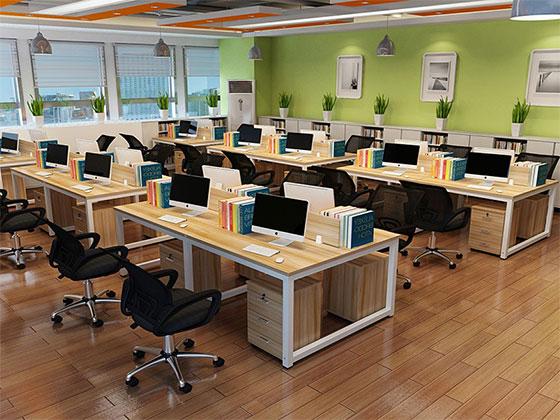 办公室4人桌尺寸-屏风办公桌-品源办公桌