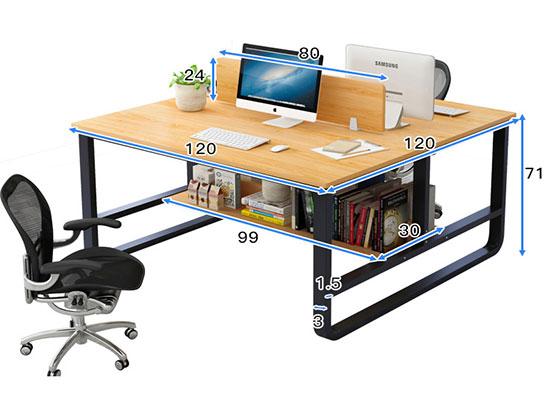 办公室隔断办公桌厂家尺寸-屏风办公桌-品源办公桌