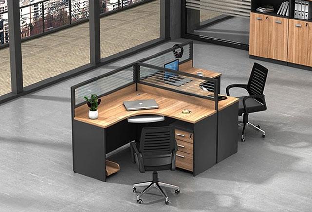 两人办公桌-双人位办公屏风桌