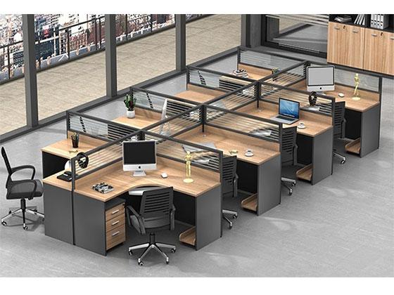 双人位办公屏风桌-屏风办公桌-品源办公桌