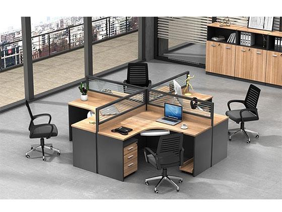 双人位办公屏风桌-隔断办公桌-品源办公桌