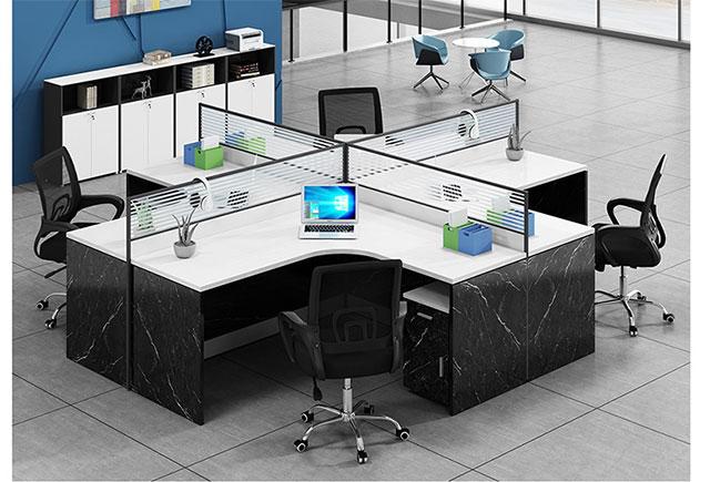 转角办公桌_转角屏风办公桌_转角四人位办公桌
