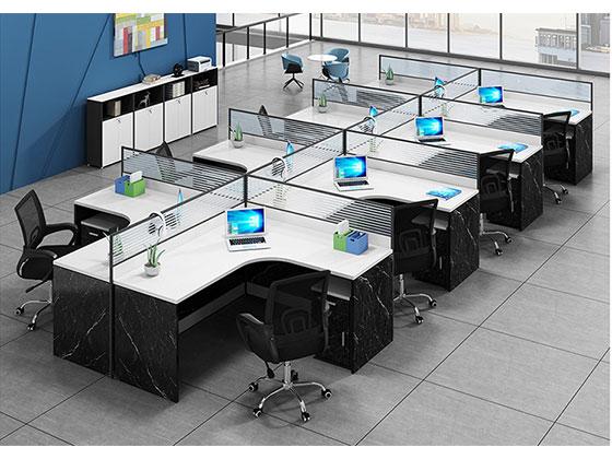 转角办公桌-屏风办公桌-品源办公桌