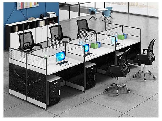 转角办公桌-隔断式办公桌-品源办公桌