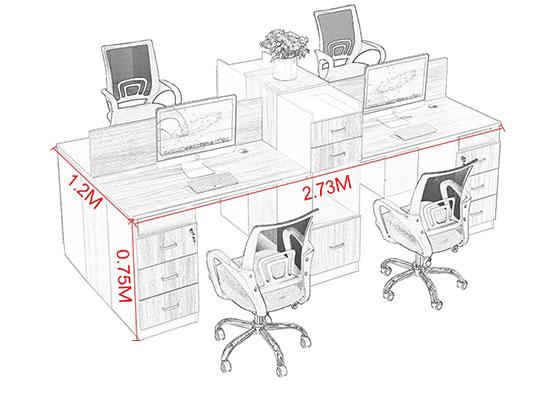 屏风工位厂家尺寸-屏风办公桌-品源办公桌
