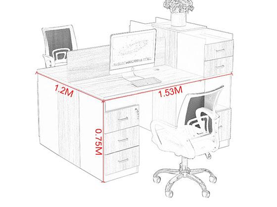 屏风工作位尺寸-屏风办公桌-品源办公桌