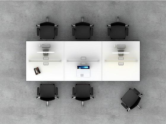 高档办公桌隔断卡座-屏风办公桌-品源办公桌