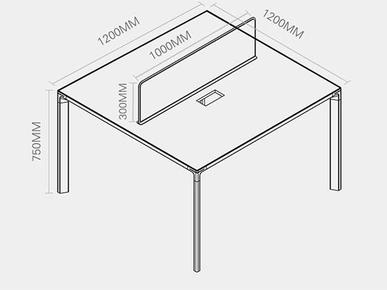 高档办公桌隔断卡座尺寸-屏风办公桌-品源办公桌