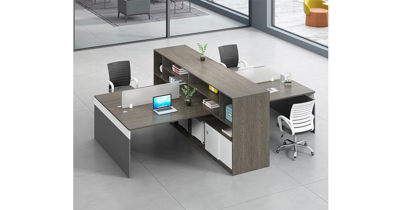 财务隔断-隔断式办公桌-品源办公桌